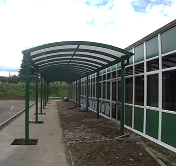 Curved Canopies & Curved Canopies - School Canopies Commercial Canopies and Walkways